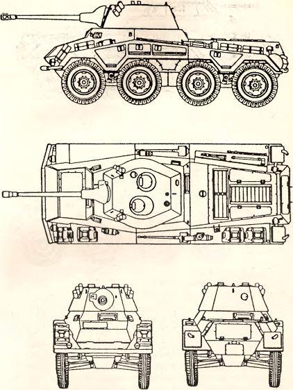 Рис.69. Тяжелый бронеавтомобиль Sd.Kfz. 234/2 «Puma».