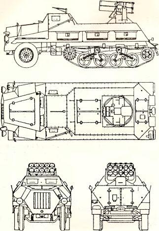 Рис.77. Пусковая установка 150-мм ракет на базе Sd.Kfz. 4/1 «Maultier».
