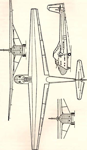 Рис.130. Грузовой планер Me 321 В-1.