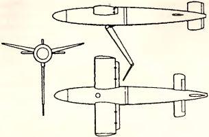 Рис.144. Управляемая авиационная торпеда Bv 143.