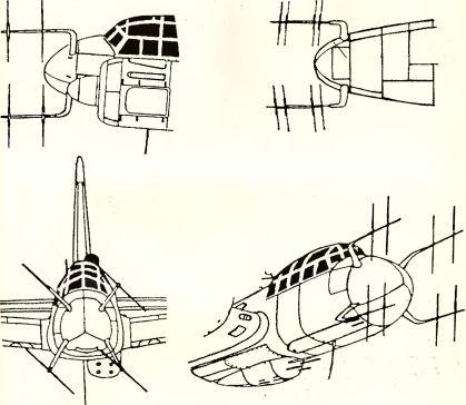 Рис.156. Антенна радара FuG 220 типа «Оленьи рога» (на ночном истребителе Ju 88G-1).