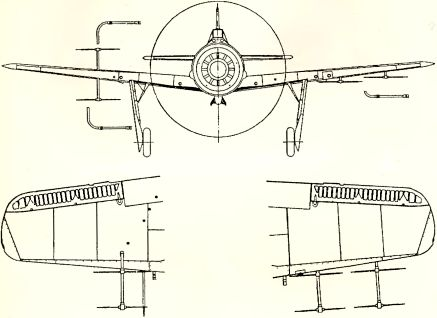 Рис.157. Антенны радара FuG 217 типа «Оленьи рога» на Fw 190А-5.