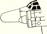 Рис.160. Антенна радара FuG 240 в радиопрозрачном обтекателе нa Ju 88G-6.