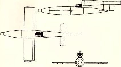 Рис.192. Пилотируемый самолет-снаряд «Reichenberg IV».