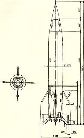 Рис.194. Баллистическая ракета V 2.