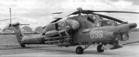 Первый образец Ми-28А в первоначальном виде с трехлопастным хвостовым винтом