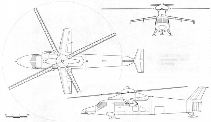 Десантно-боевой вертолет Ми-42 (проект)