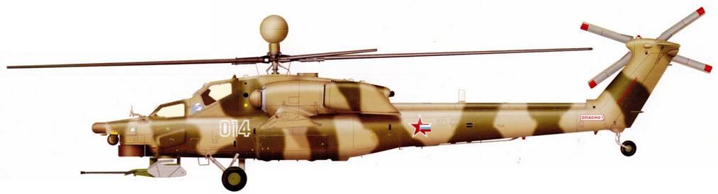 Первый опытный образец Ми-28Н, переделанный из первого опытного Ми-28А, 1999 г.