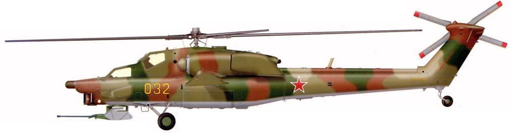 Первый опытный образец Ми-28А с Х-образным хвостовым винтом