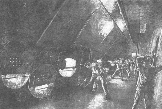 В котельном отделении на одном из германских броненосцев.