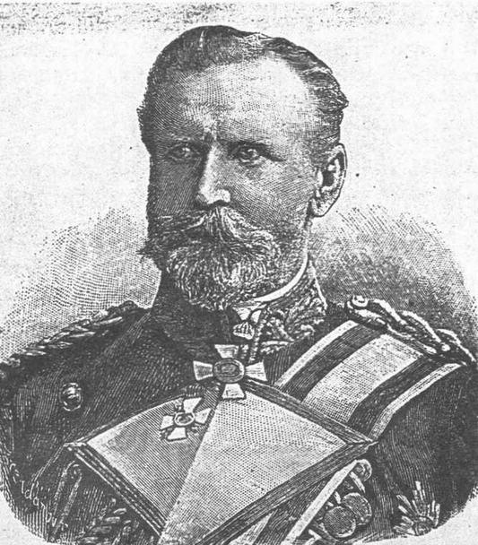Командующий германской Балтийской эскадрой адмирал Кнорр