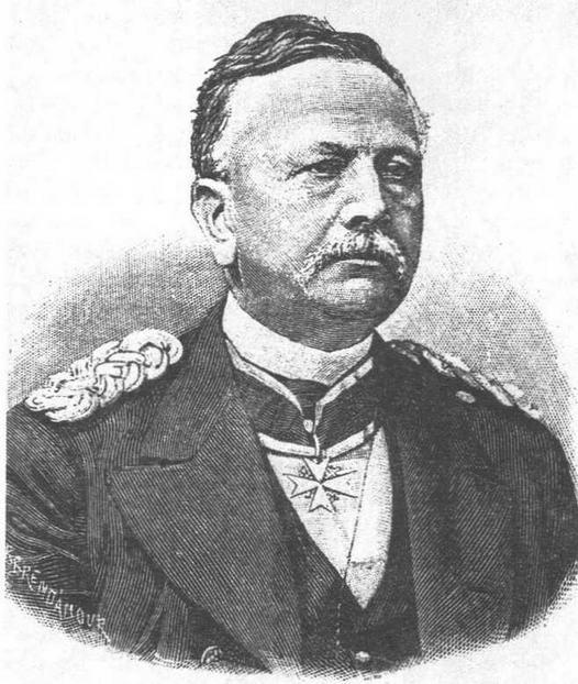 Основатели германского флота принц Адальберт (вверху) и генерал фон Штош