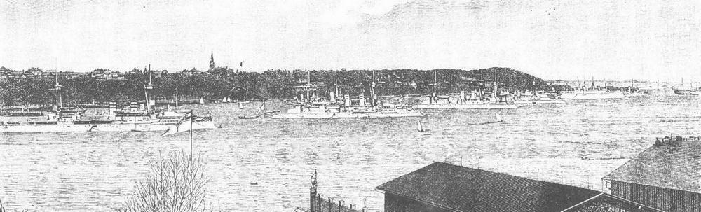 Германская Практическая эскадра на якоре (с гравюры того времени)