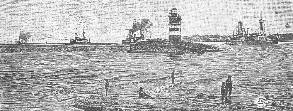 Эскадра уходит в море. С рисунка того времени.