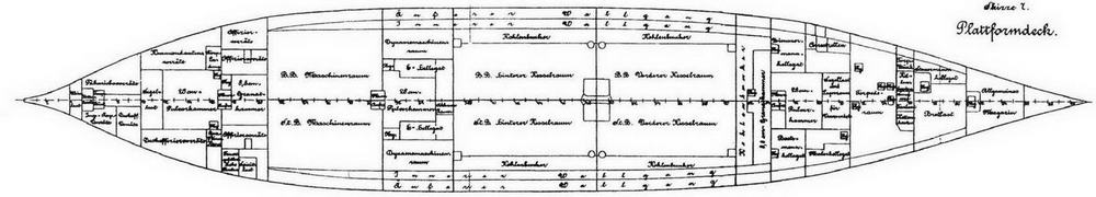 "Броненосцы типа ""Бранденбург"" (Планы нижней палубы, платформ и трюма)"