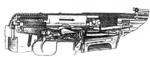 Механизм винтовки СЩ в момент заряжания