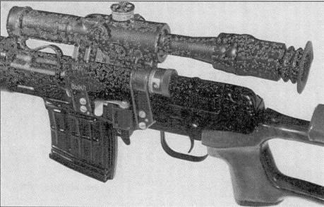 Фрагмент самозарядной снайперской винтовки СВД