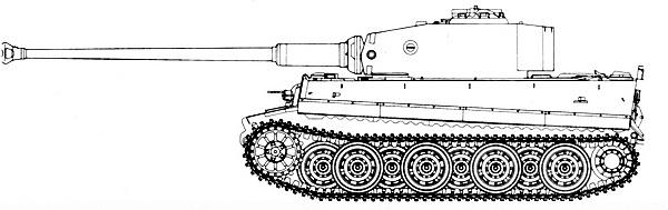 Tiger Ausf.E с 88-мм пушкой KwK 43 L/71.
