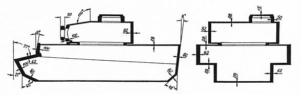 Схема бронирования тяжёлого танка «Тигр».