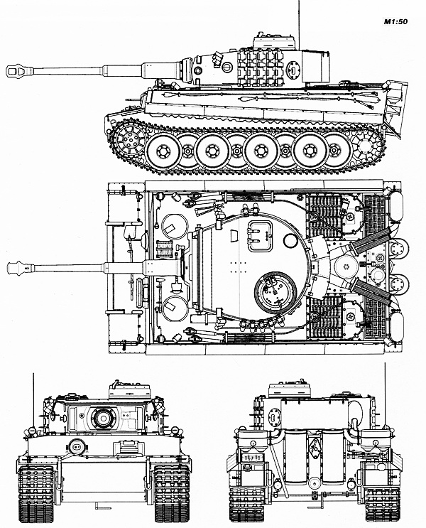 Командирский «Тигр» выпуска апреля — июня 1943 года.