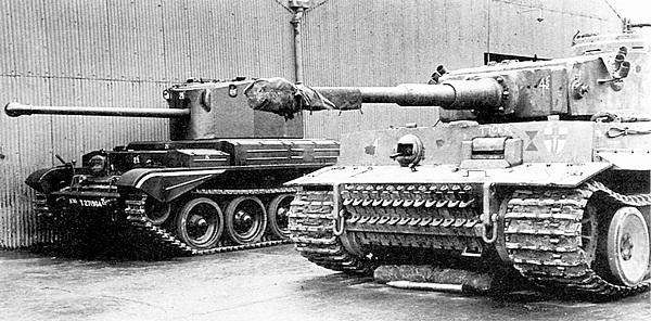 Этот же танк, уже захваченный войсками 1-й английской армии (её эмблема нанесена на лобовой броне) и доставленный в Бовингтон. 1943 год.