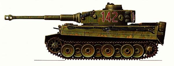 Pz.VI Tiger Ausf.H1. 501-й тяжёлый танковый батальон, Тунис, зима 1943 года.