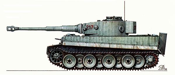 Pz.VI Tiger Ausf.H1. 502-й тяжёлый танковый батальон, Восточный фронт, зима 1944 года.
