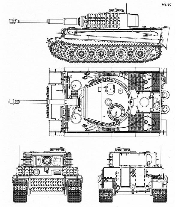 «Тигр» выпуска мая — июля 1944 года.