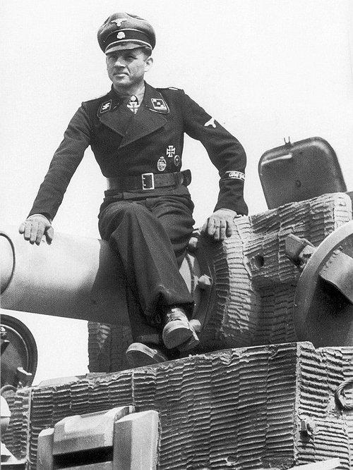 Хауптштурмфюрер СС Михаэль Виттман. Франция, июнь 1944 года.