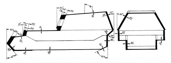 Схема бронирования САУ «Фердинанд».