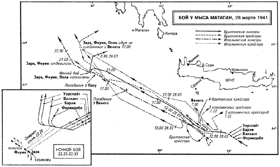 Глава VIII. Средиземноморский флот в дни триумфа и испытаний