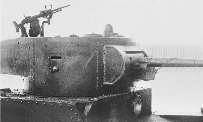 Танк Т-26 со шкворневой зенитной установкой на башне. Завод №185 имени С. Кирова, 1936 год (РГАЭ).