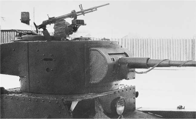 Танк Т-26 с зенитной установкой П-40 на башне (с пулеметом и без него). Завод №185 имени С. Кирова, 1936 год (РГАЭ).