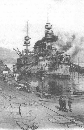 """Жорегибери"" на достройке. 1895 г."