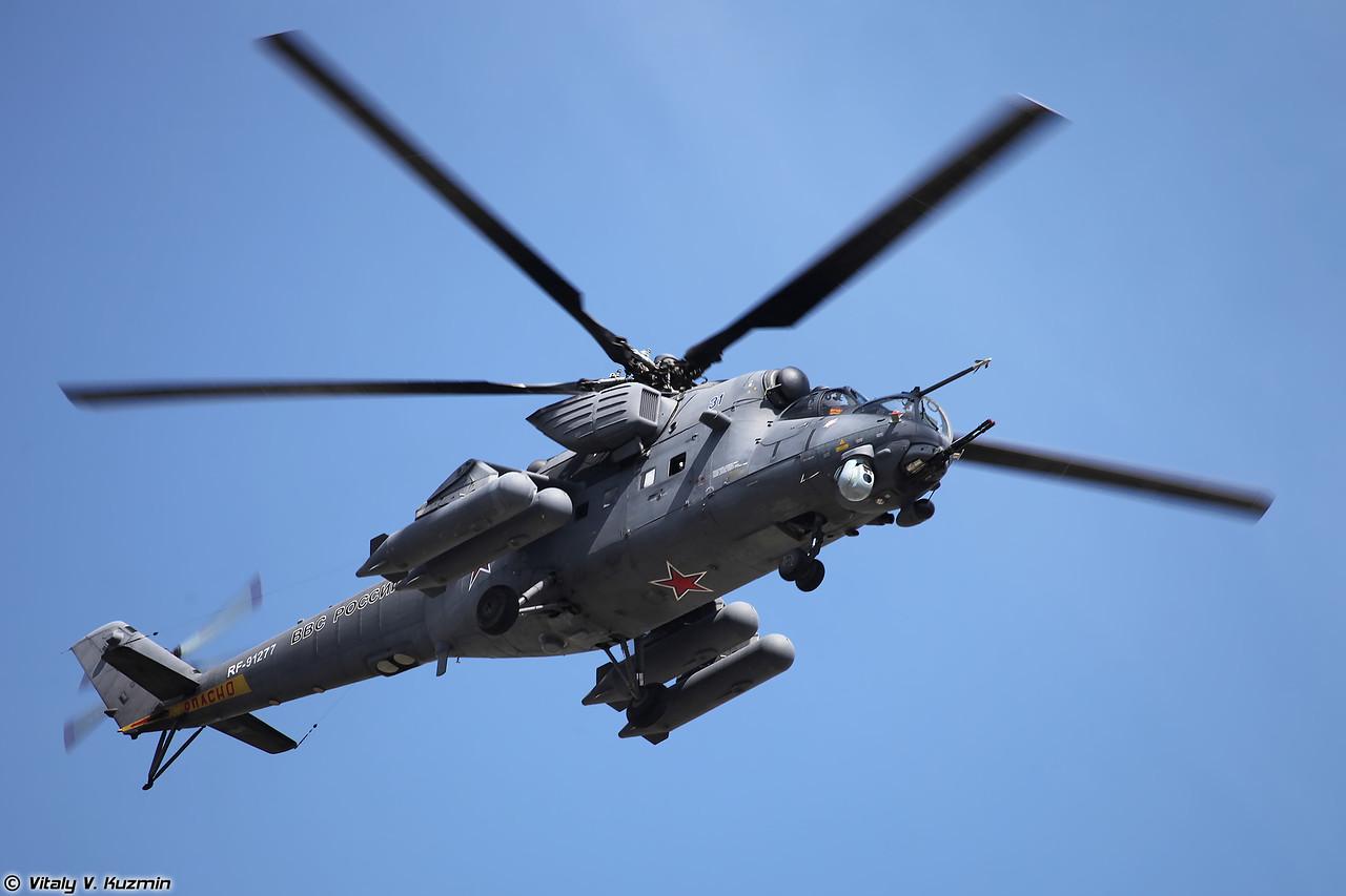 Боевой вертолет Ми-35М (фото - Виталий Кузьмин, https://www.vitalykuzmin.net)