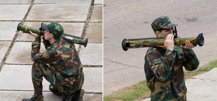 Применение огнемета МРО-А с колена и стоя (http://russianguns.ru)